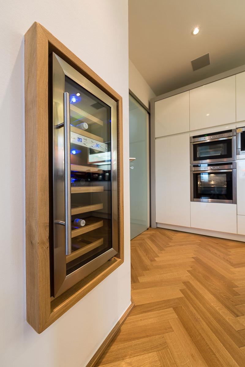 Küche mit integr. Weinkühlschrank | Rotte – Die Tischlerei